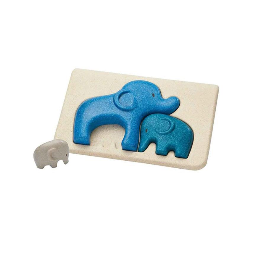 drvena slagalica u bojama slonići