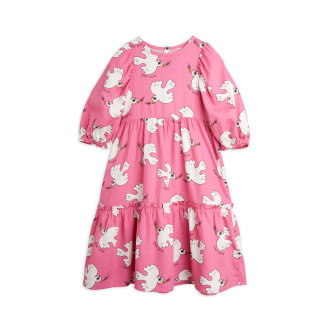 Pamučna haljina golubica