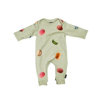 Kombinezon za bebe od organskog pamuka Macarons Green
