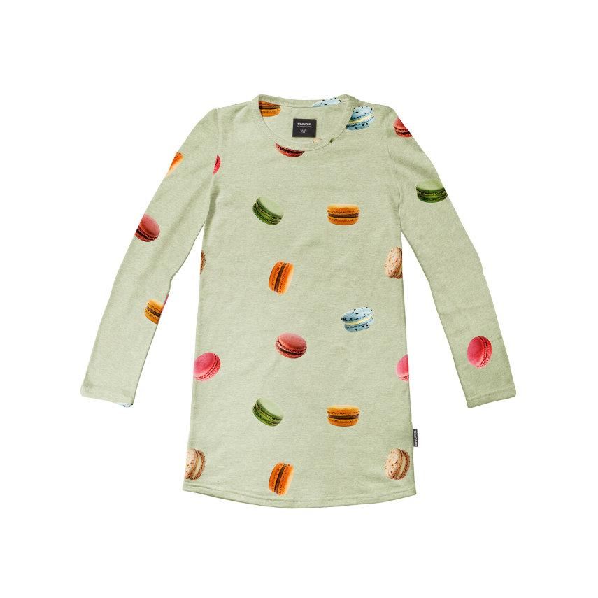 Spavaćica dugih rukava od organskog pamuka Macarons Green
