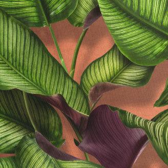 Donji dio pidžame za djecu od organskog pamuka Fresh Leaves