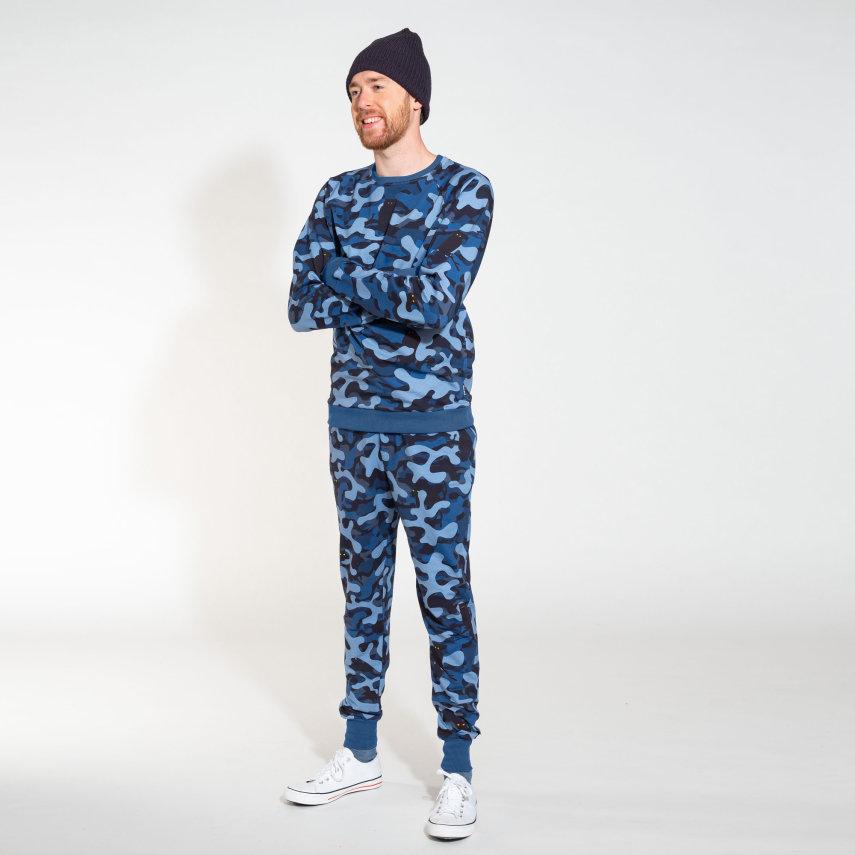 Donji dio pidžame za odrasle od organskog pamuka Paper Nights