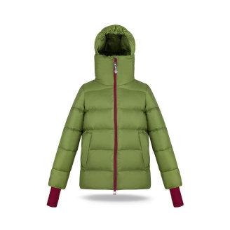 topla pernata jakna za djecu s povišenim ovratnikom