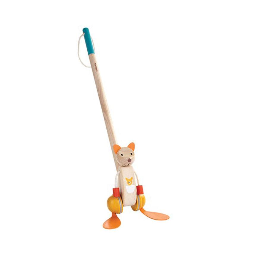 igračka guralica na štapu klokan
